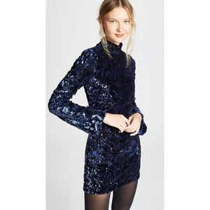 Alexis Navy Rhapsody Sequin velvet dress S